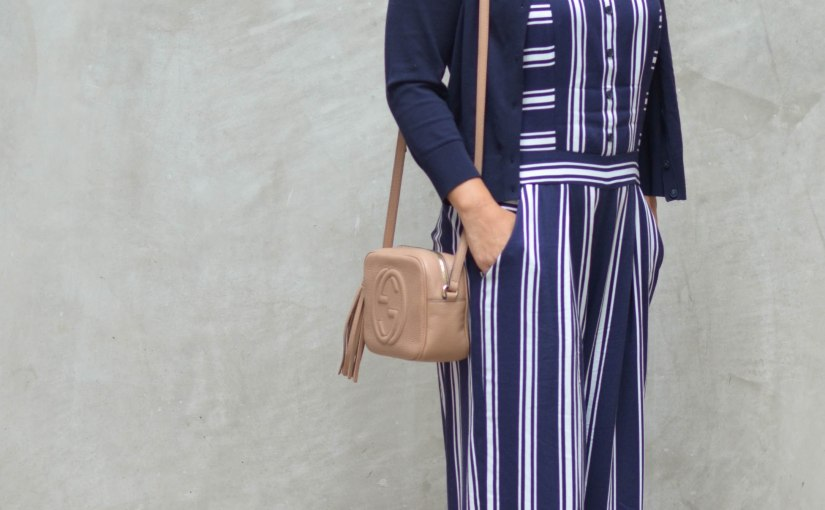 Navy Striped Jumpsuit – Summer Workwear